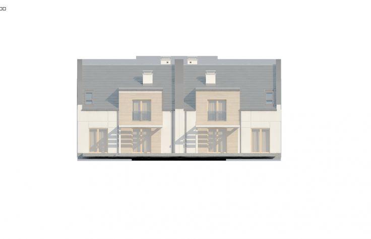 Projekt domu bliźniaczego Zb13 - elewacja 2