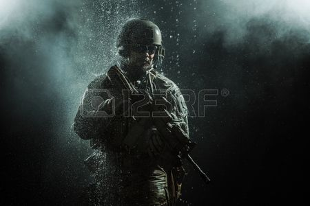Green Berets US Army Special Forces Group Soldier In The Rain Stock Photo, Picture And Royalty Free Image. Image 53558366.
