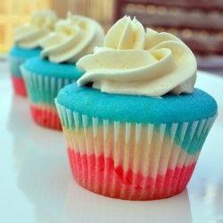 patriotic cupcake.