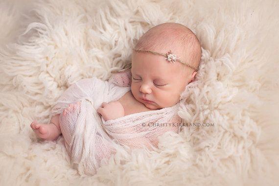 Newborn Headband: Newborn Photo Prop by CastAwayCollection