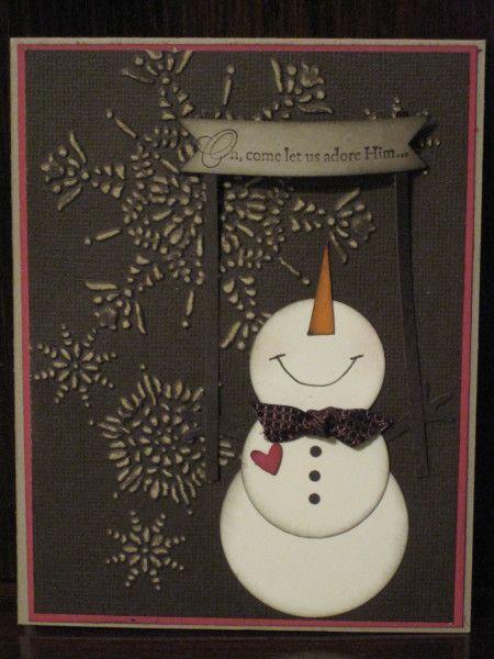 Vintage Snowman Adoring Him