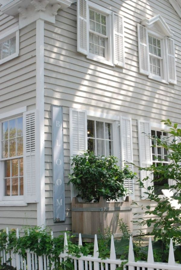 55 best colors for exterior images on pinterest exterior for Cottage siding