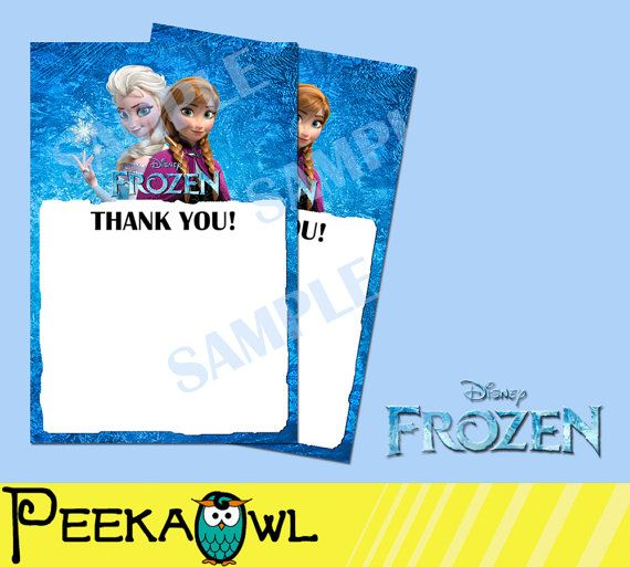 Instant download Disney Frozen Birthday Party Blank by PeekaOwl
