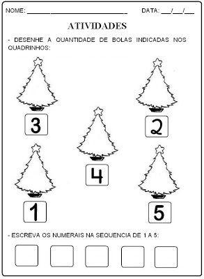 Aprender Brincando: Atividades de Natal - PRÉ I
