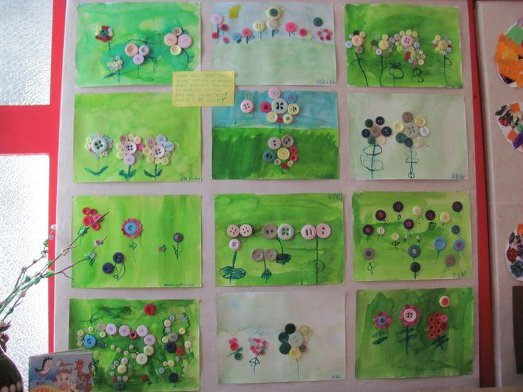 květiny z knoflíků