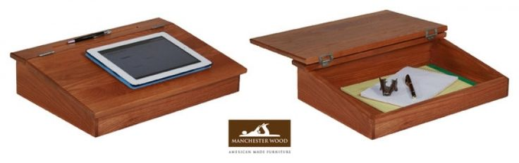 Wooden Lap Desk With Storage Lap Desk  Manchester Wood   Traditional   Home Electronics