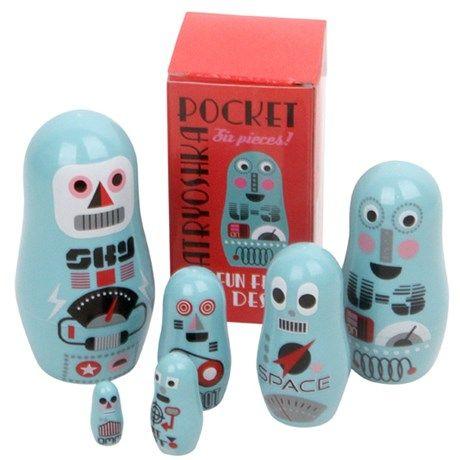 Små roboter for dekorasjon og lek!