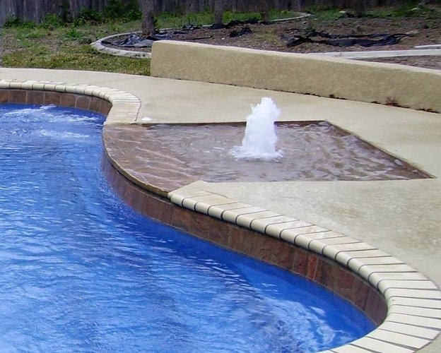 Tanning ledge awesome inground pool designs pinterest for Pool design with tanning ledge