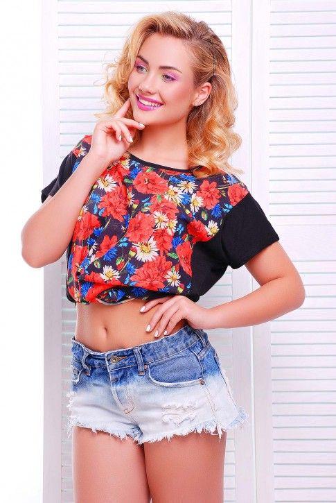#футболка #цветочный #принт