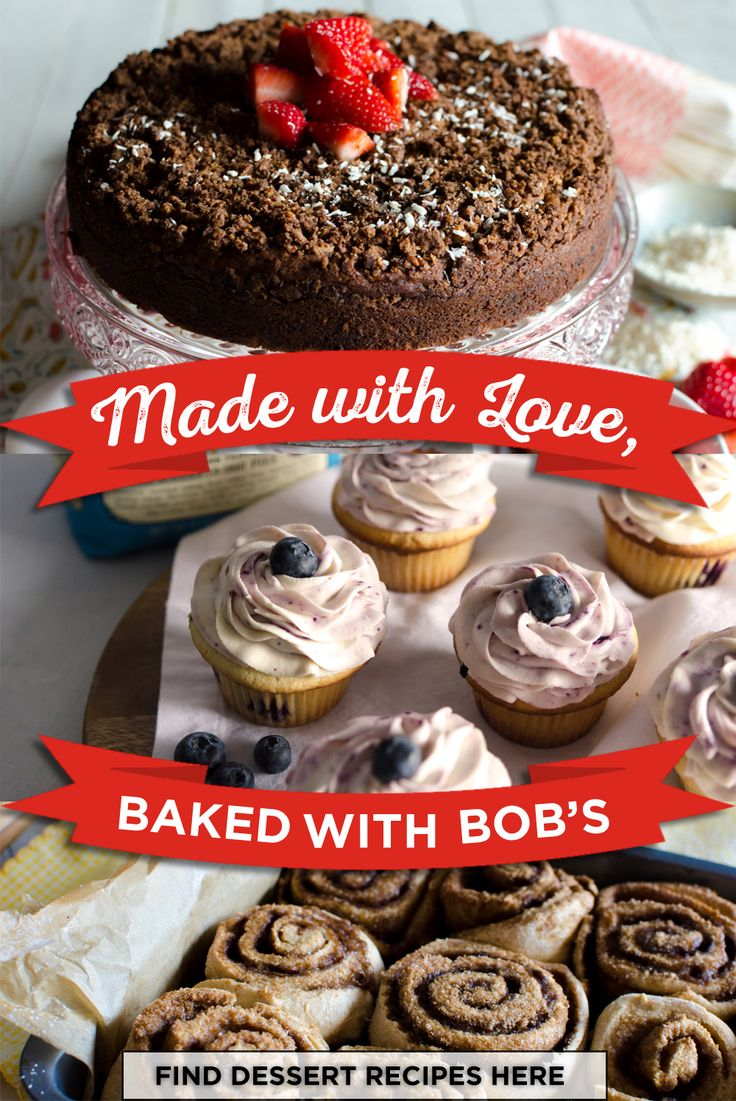 Decadent dessert recipes made easy with Bob's Red Mill! Start whipping up sweet and tasty desserts and browse our recipes here!