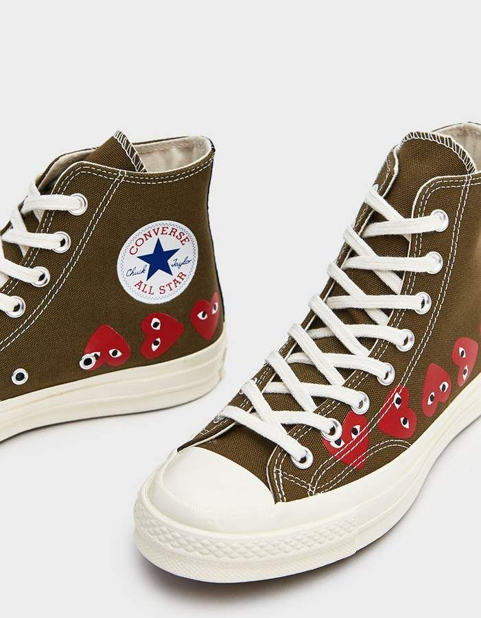 Play Converse High Multi Heart Sneaker in Khaki | Multi