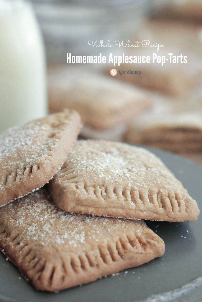 How to Use Whole Wheat Pastry Flour + Applesauce Pop Tarts!