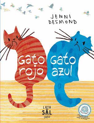 """Libro infantil """"GATO ROJO, GATO AZUL"""", sobre peleas, enfados, amigos, autoestima. Cuento para la educación emocional"""