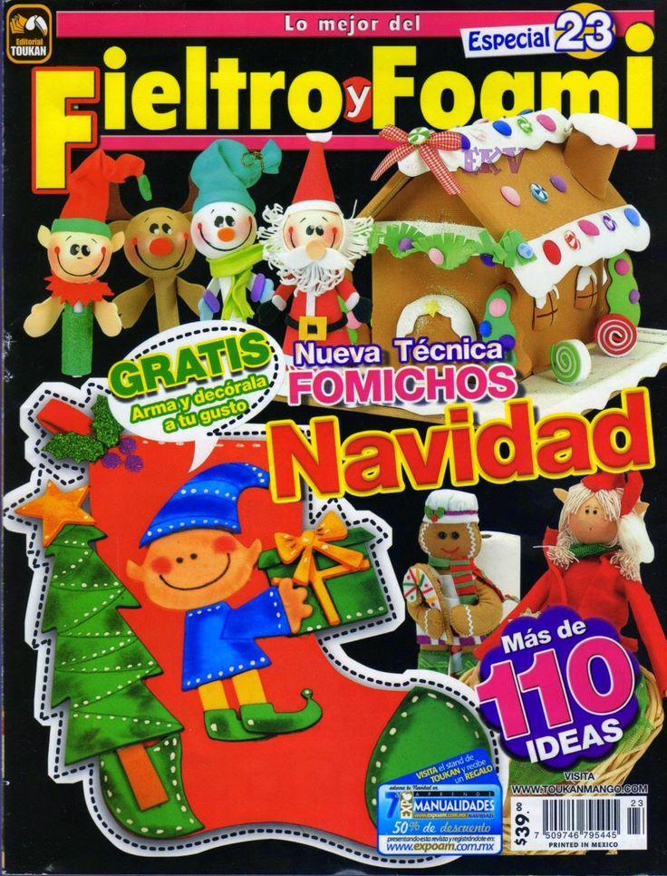 revista navideña fieltro gratis