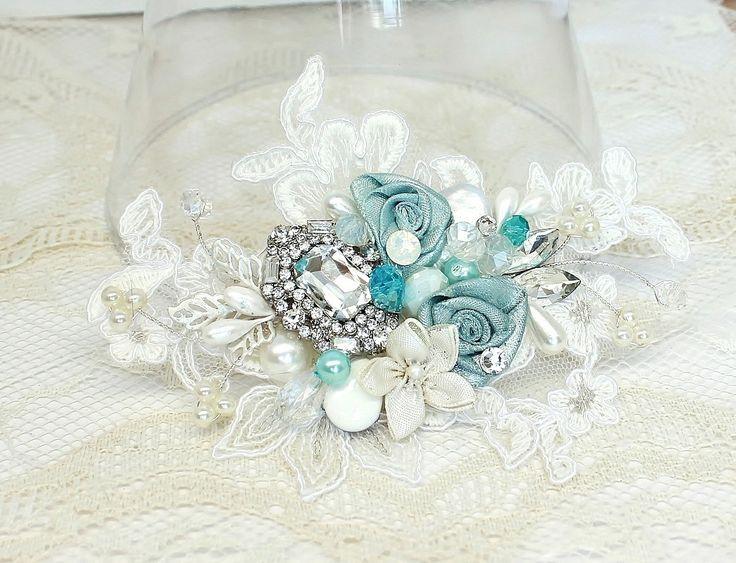 Aqua Hair Comb- Mint blue Bridal Clip- Sea Blue Wedding Hairpiece-Sea Glass Bridal Comb- Aqua Hair Accessories- Floral Hair Accessories by BrassBoheme on Etsy https://www.etsy.com/uk/listing/173508004/aqua-hair-comb-mint-blue-bridal-clip-sea