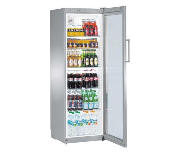 Liebherr Premium Gewerbe Getränke Kühlschrank FKvsl 4113, silver, Umluft Kühlung