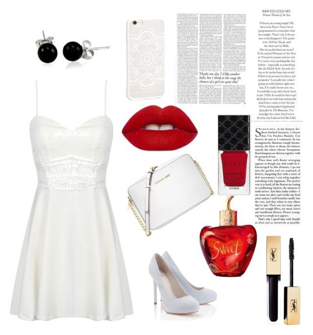 """""""Prom girl"""" by loekievanede on Polyvore featuring mode, Lipsy, Michael Kors, Gucci, Lime Crime, Bling Jewelry, Lolita Lempicka en Victoria Beckham"""