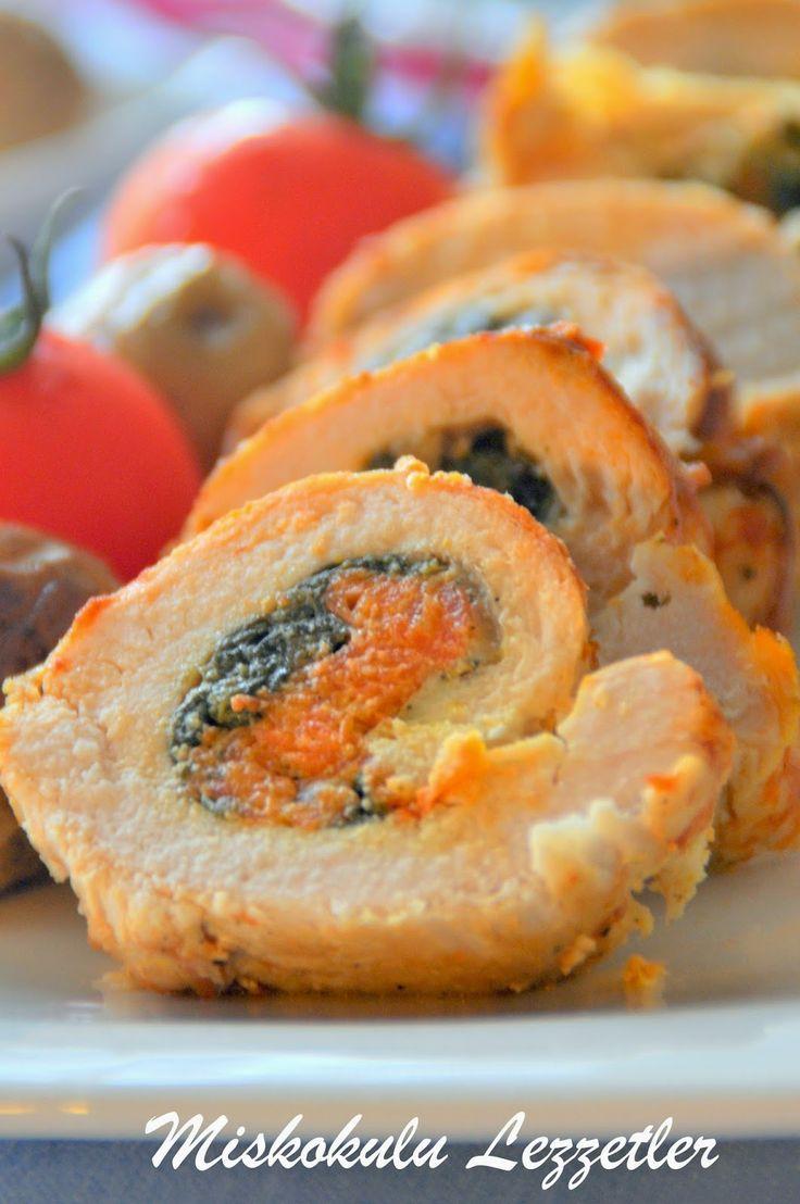 miskokulu lezzetler: Ispanaklı Havuçlu Tavuk Rulo