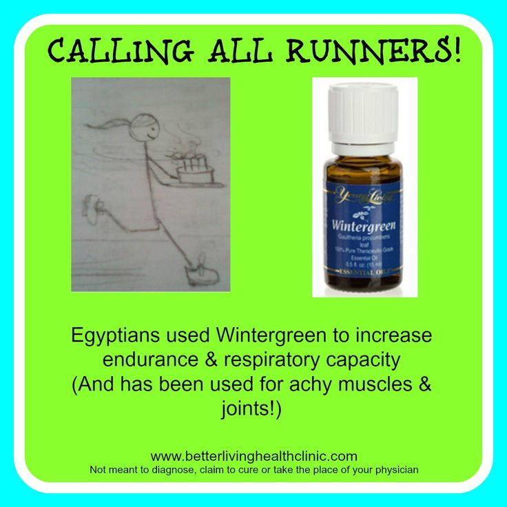 "For all my ""Runner Friends!"" Young living wintergreen oil. #runners #musclerelief#wintergreen www.theoildropper.com"