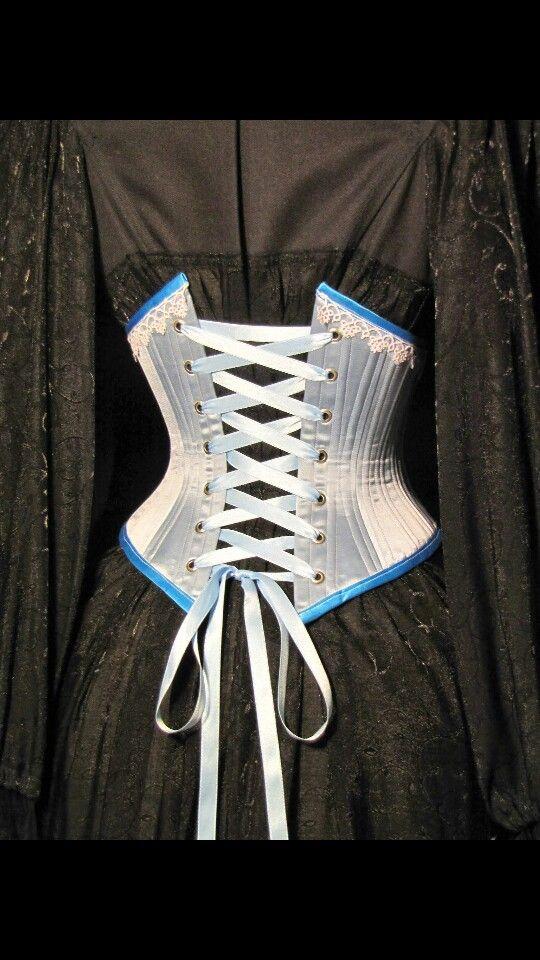 Victorian Underbust silk corset made by me #waisttraining