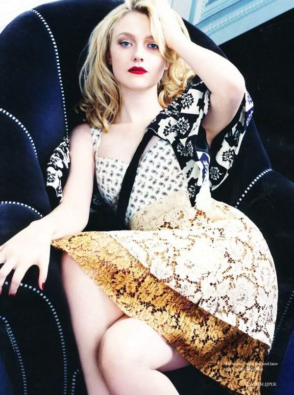 ru_glamour: Дакота Фаннинг (Dakota Fanning) снялась для февральского Elle UK