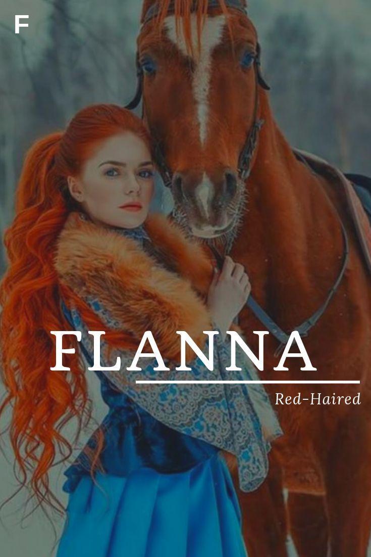Flanna, signifiant cheveux roux, noms irlandais, noms de bébé fille F, noms de bébé F, femme