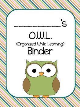 Owls Binder Covers Pack - for folders? $2 digital download, free membership required