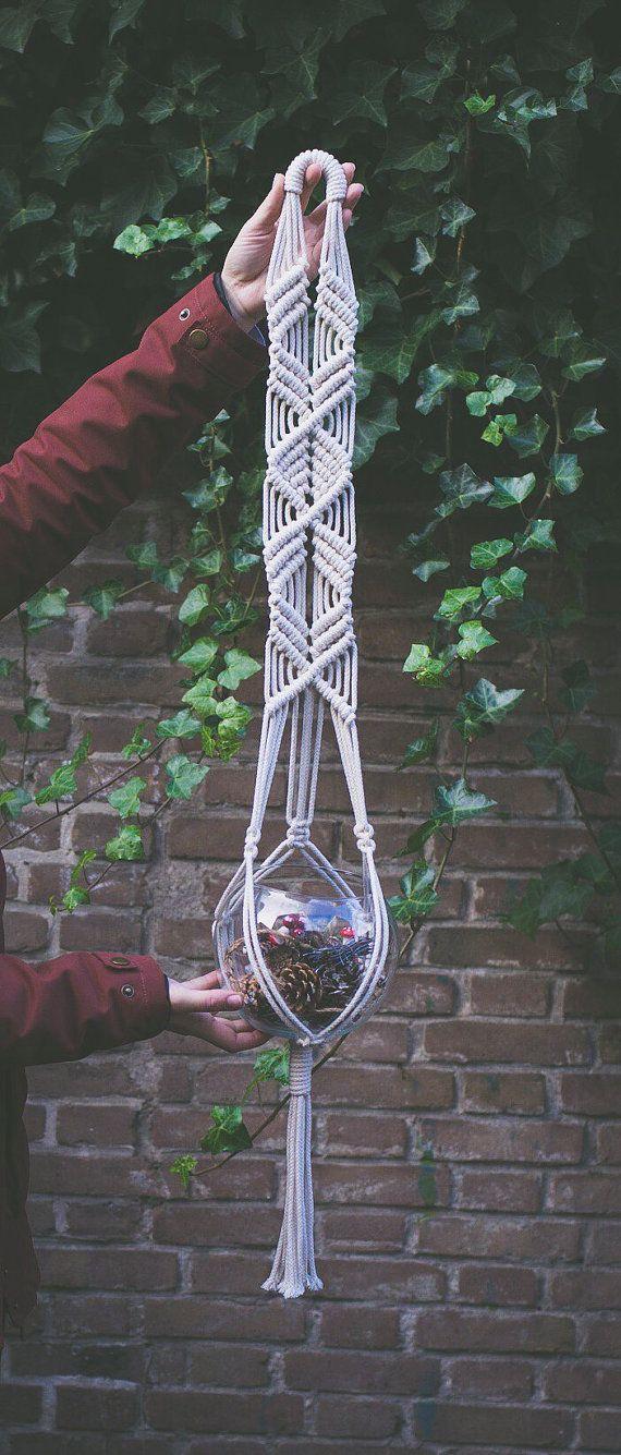 macrame pot plant hanger instructions