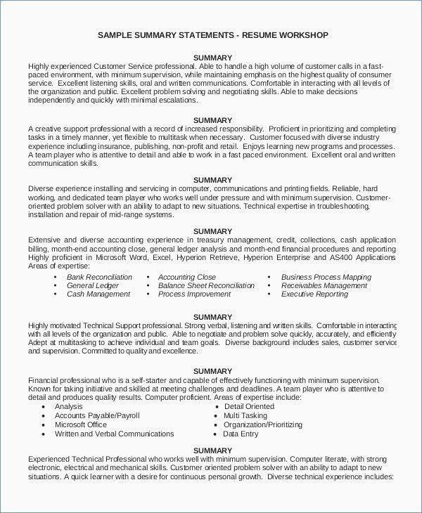 30 Skills List For Resume Resume Summary Examples Customer