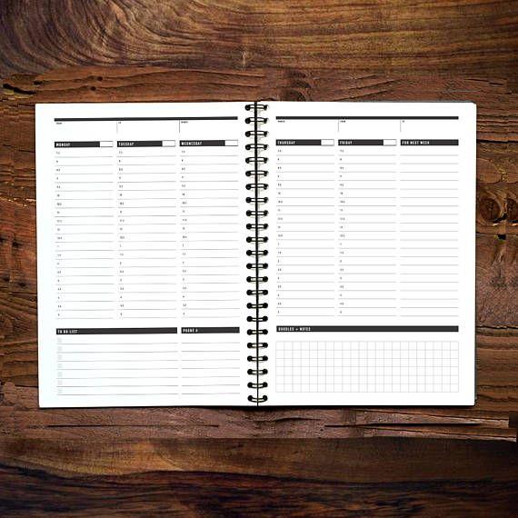 Printable Weekly Planner Daily Agenda Plan Printable Weekly