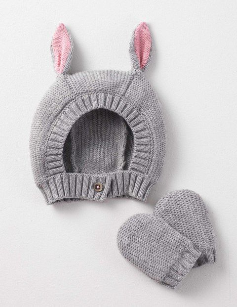 Our animal hat and mittens set is a delightful way to keep your little critter warm. Soft and light cashmere and cotton makes your baby cuddlier than ever. Complete the look with our matching scarf.