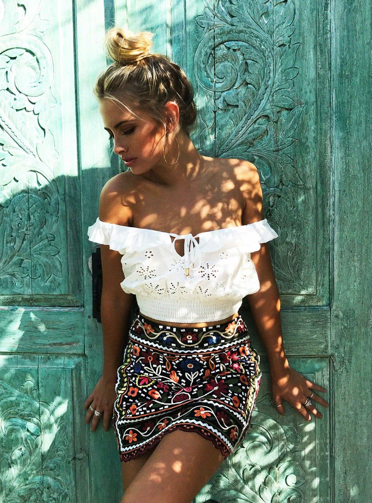 Pablo Embroidered Skirt
