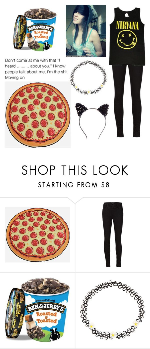 """Anyone wanna cuddle or hang out I have a pizza blanket!"" by dontforgetthesun2 ❤ liked on Polyvore featuring BRAX, J Brand and Accessorize"