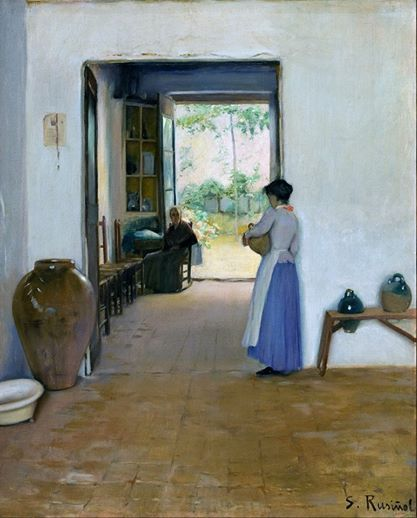 Santiago Rusiñol i Prats (Spanish painter, poet, and playwright) 1861 - 1931 Sitges Interior, ca. 1894 oil on canvas 80.5 x 65 cm.