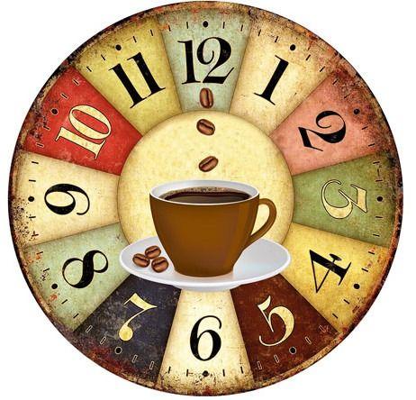 relógio de parede estilo rústico vintage retrô café cozinha