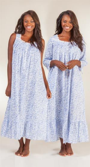 Peignoir Set - Eileen West Cotton Lawn Sleeveless Set in Villa Rose