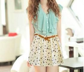 2013 Fashion summer fresh and elegant sweet wild bohemian chiffon floral skirt printing L001-1