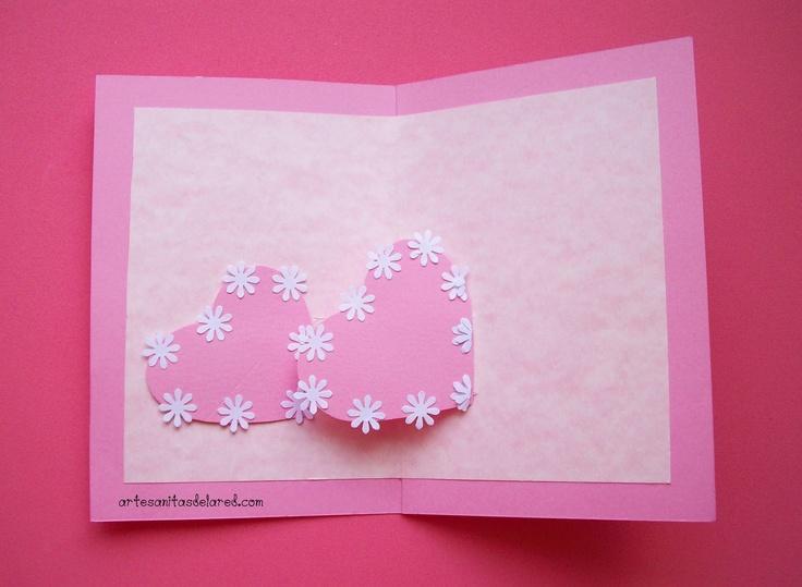 el taller artesano: tarjeta para enamorados o dia de la madre