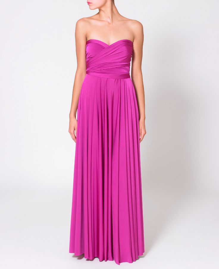 Fuchsia Ballgowns | twobirds Bridesmaid multiway, convertible wrap dresses