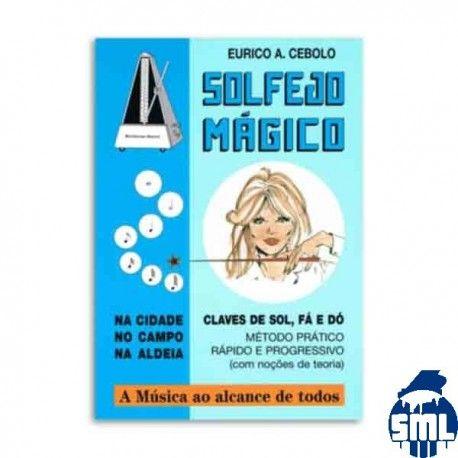 Livro Eurico Cebolo SOL M Método Solfejo Mágico com CD