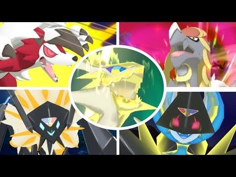 All Exclusive Z-Moves in Pokémon Ultra Sun and Ultra Moon HD - YouTube