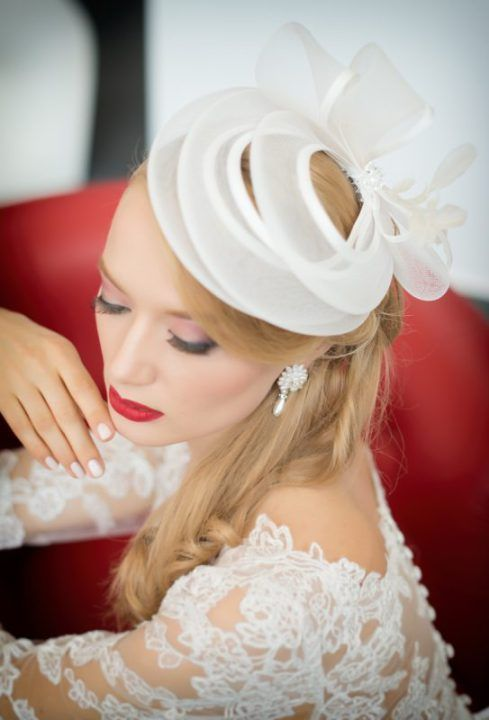cappellino sposa. bridal hat fascinator