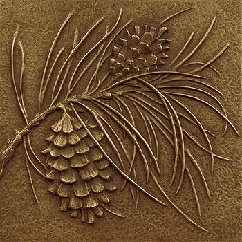 art deco pine cone tile artifaqtcom decorative - Decorative Wall Tiles