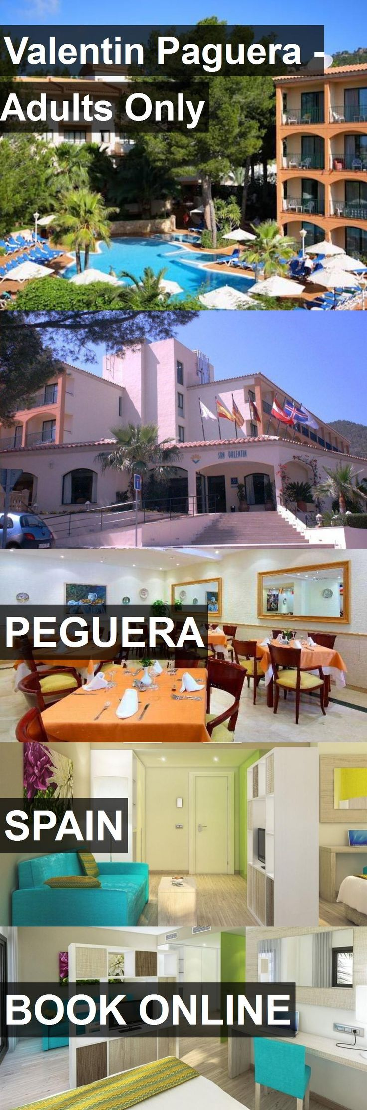 Hotel Valentin Paguera - Adults Only in Peguera, Spain. For more information, photos, reviews and best prices please follow the link. #Spain #Peguera #travel #vacation #hotel