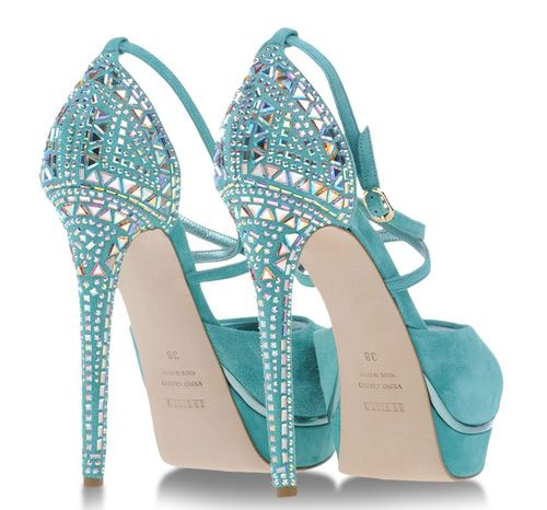 Turquoise Le Silla sandals