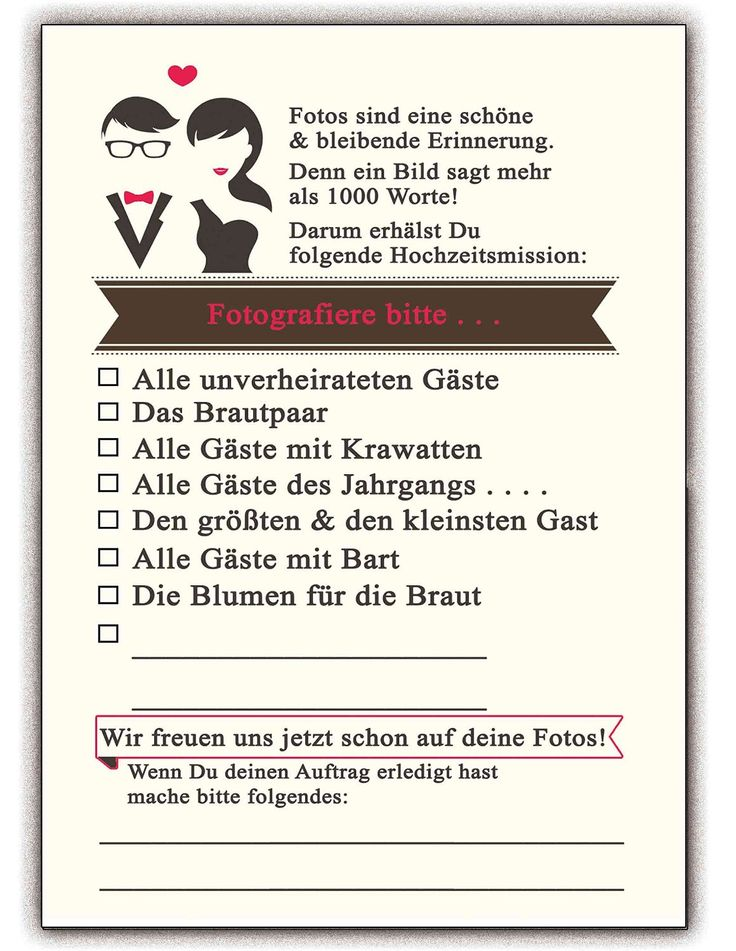 Hochzeitsspiele Foto-Spiel - Hochzeit Hochzeitsspiel Gäste Brautpaar Aufgaben Fotos (25 Stück): Amazon.de: Bürobedarf & Schreibwaren