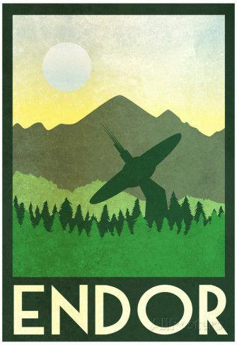 Endor Retro Travel Posters at AllPosters.com