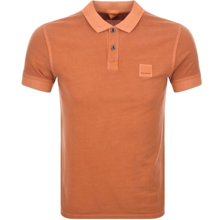 BOSS Orange Pascha Polo T Shirt Orange             @mainlinemenswear