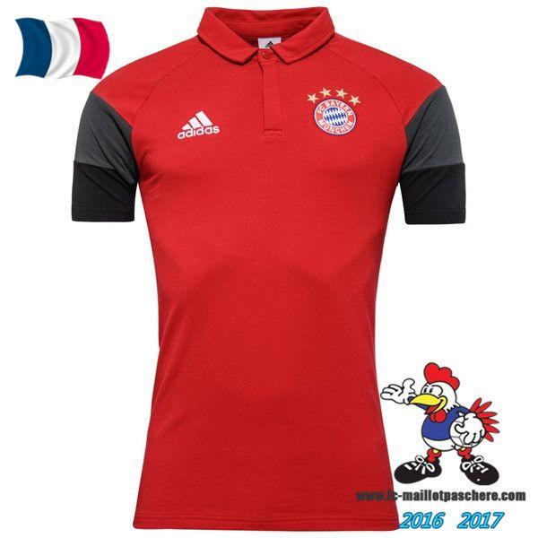 Promo Polo De Foot Bayern Munich Rouge 2016/2017 Pas Cher