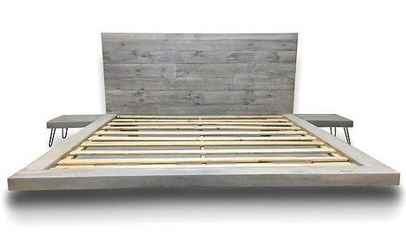 FREE SHIPPING Floating Platform Bed with by SustainFurnitureCo